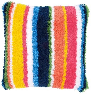 Latch Hook Cushion Kit Bright Stripes Verachtert Store